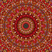 Polygonal Geometrical Circular Tile Mosaic Pattern Mandala Background - Colorful Abstract Psychedeli poster