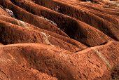 stock photo of rich soil  - A badlands   - JPG