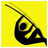 picture of pole-vault  - pole vault sport color icon illustration vector pictogram - JPG