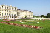 pic of schoenbrunn  - The picture shows the famous Schoenbrunn Palace and the baroque castle park - JPG