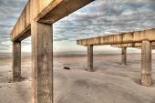 stock photo of katrina  - Long Island Ruined boardwalk - JPG