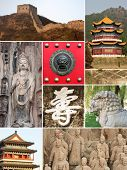 Landmark collage of China