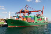 stock photo of international trade  - Container Ship from Haydarpasa Port - JPG