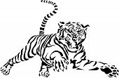 stock photo of tigers-eye  - Tiger Jump Swirl Graphic - JPG
