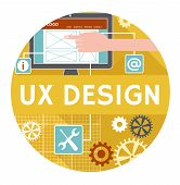 Flat icon or banner for ux design