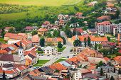 pic of tatar  - Spissky hrad village panorama in Slovakia High Tatars region - JPG