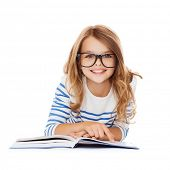 foto of pre-teen girl  - education and school concept  - JPG