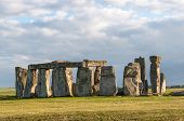 pic of unique landscape  - Stonehenge in afternoon sun - JPG