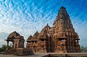 picture of indian blue  - Kandariya Mahadeva Temple  - JPG