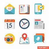 stock photo of communication  - Icons for Web and Mobile Application - JPG