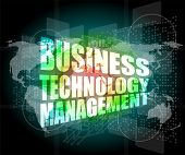 stock photo of triage  - business technology management words on touch screen interface - JPG