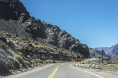 picture of mendocino  - National Road 7 passing by the Department of Lujan de Cuyo in Mendoza Argentina - JPG