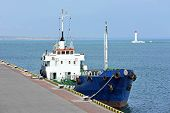 stock photo of fuel tanker  - Bunker ship  - JPG