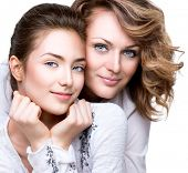 foto of daughter  - Mother and Teen Daughter - JPG