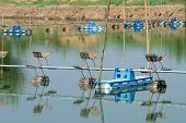 picture of aeration  - Aerator for water treatment in the pond - JPG