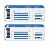 pic of first class  - vector airline boarding pass ticket isolated on white background - JPG