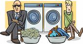 ������, ������: Money Laundering Cartoon Illustration