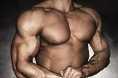 stock photo of pectorals  - Close - JPG