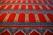foto of glorious  - Red carpet with arabic motive from a mosque  - JPG