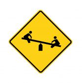 road sign - playground