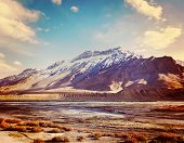foto of himachal pradesh  - Vintage retro effect filtered hipster style travel image of Spiti Valley  - JPG