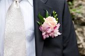 foto of boutonniere  - Groom
