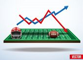 picture of three-dimensional  - Background concept statistics about the game of football - JPG