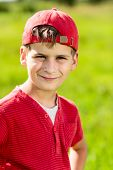 picture of ten years old  - Boy Child Portrait Smiling Cute ten years old outdoor - JPG