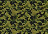stock photo of camo  - Camouflage background with a seamless design - JPG