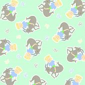 picture of capricorn  - Horoscope capricorn background vector graphic illustration design art - JPG