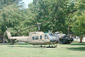 image of medevac  - Huey helicopter on display at the Old Vets Home - JPG