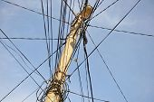 pic of electricity  - Public electricity pole with lots of tangled wires - JPG