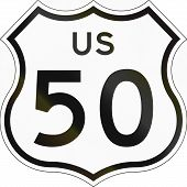 picture of 50s  - US route shield in California 50  - JPG