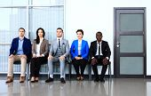 stock photo of competing  - Business people waiting for job interview - JPG
