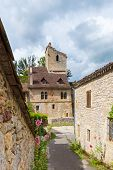 image of naturel  - Street in Saint Cirq Lapopie in France - JPG