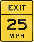 stock photo of mph  - US road warning sign - JPG