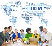 stock photo of productivity  - Productivity Mission Strategy Business World Vision Concept - JPG