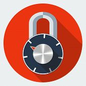 stock photo of combinations  - Vector combination padlock icon - JPG