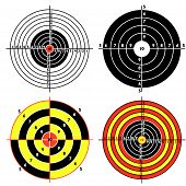 image of crossed pistols  - Set targets for practical pistol shooting exercise - JPG