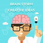 pic of storms  - Brain storm creative idea concept - JPG
