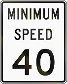 image of mph  - United States minimum speed sign 40 mph - JPG