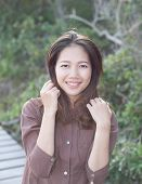 pic of joy  - portrait of  beautiful young woman toothy smiling with happy face and joy emotion - JPG