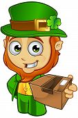 pic of leprechaun  - A cartoon illustration of a cartoon little Leprechaun character - JPG