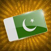 stock photo of pakistani flag  - Flag of Pakistan with old texture - JPG