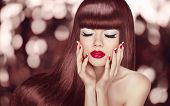 stock photo of long nails  - Makeup - JPG