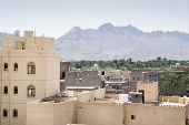 picture of oman  - View from the fort to the town Nizwa Oman - JPG