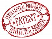 picture of plagiarism  - Retro patent stamp isolated on white background - JPG