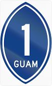 picture of guam  - United States Guam Territorial Highway shield 1 - JPG