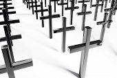 pic of inri  - Black Crosses on white background  - JPG