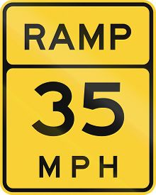 pic of mph  - US road warning sign - JPG
